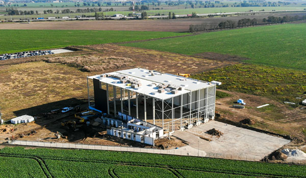 Commencement of the construction of a modern warehouse together with an office building